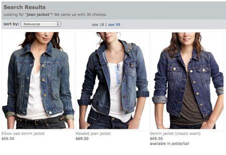 服装站点搜索结果页产品展示优化