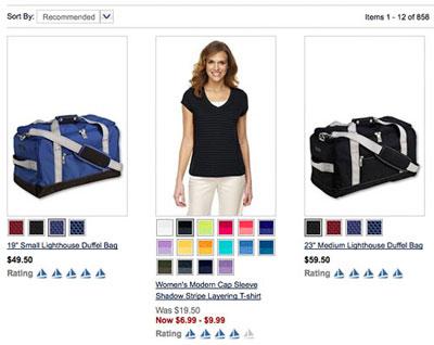 服装站点搜索结果页产品展示优化方法
