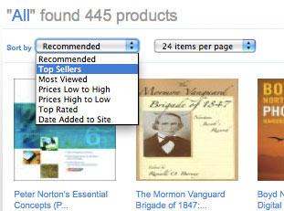 搜索结果排序方式