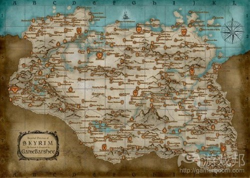 Skyrim Map All Locations from gamasutra.com