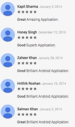 Fake Android Reviews
