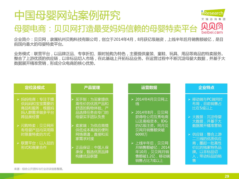 iResearch-2014年中国母婴行业线上数据洞察报告简版(1)-28