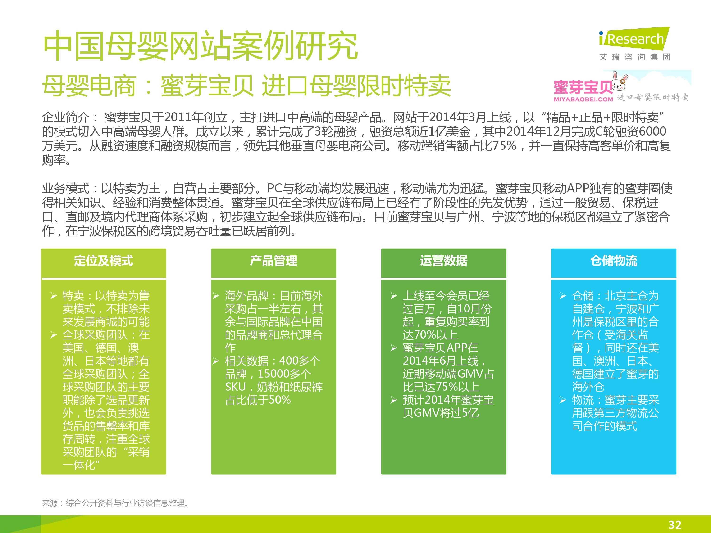 iResearch-2014年中国母婴行业线上数据洞察报告简版(1)-31