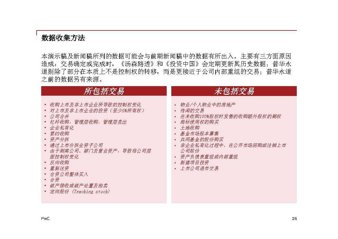 普华永道:2014年中国地区企业并购回顾与2015年前瞻 -36