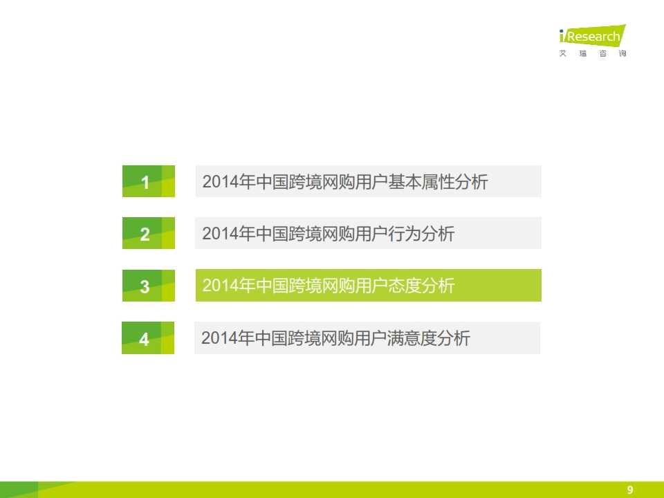 iResearch-2015年中国跨境网络购物用户研究报告简版_009