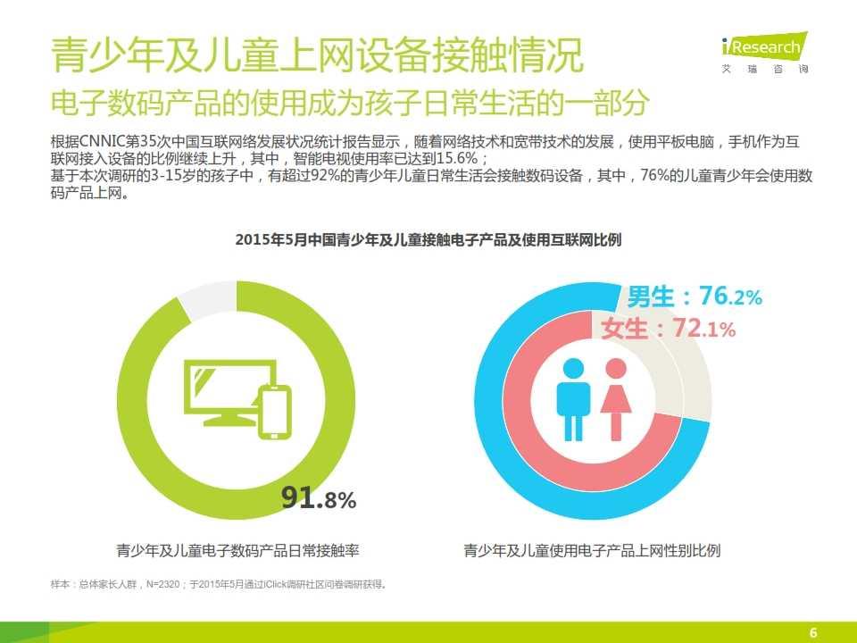 2015年中国青少年及儿童互联网使用现状研究报告_006
