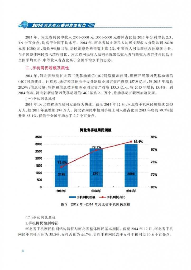 CNNIC:2014年河北省互联网发展状况报告_015