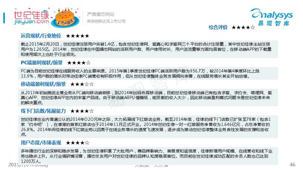 中国互联网婚恋交友市场专题研究报告2015_000046