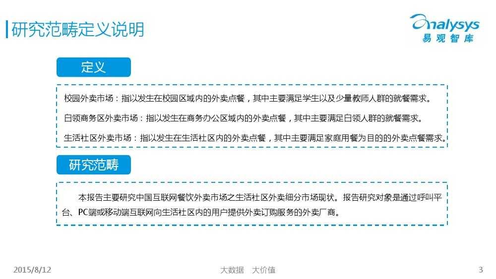 中国互联网餐饮外卖生活社区细分市场专题研究报告2015 01_000003
