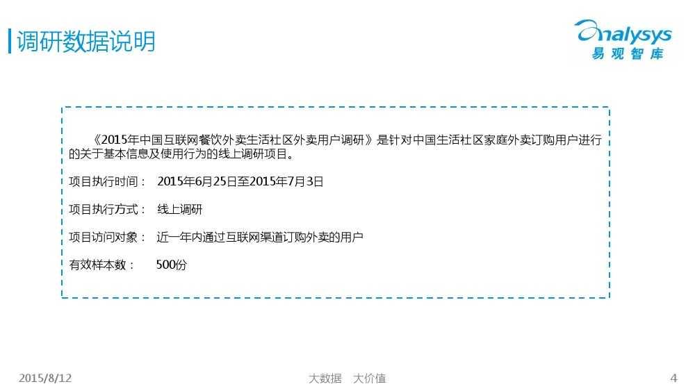 中国互联网餐饮外卖生活社区细分市场专题研究报告2015 01_000004