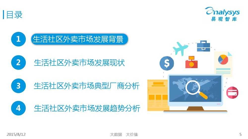 中国互联网餐饮外卖生活社区细分市场专题研究报告2015 01_000005