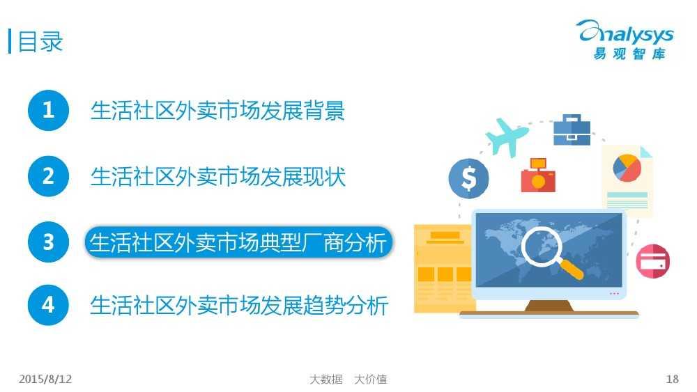 中国互联网餐饮外卖生活社区细分市场专题研究报告2015 01_000018