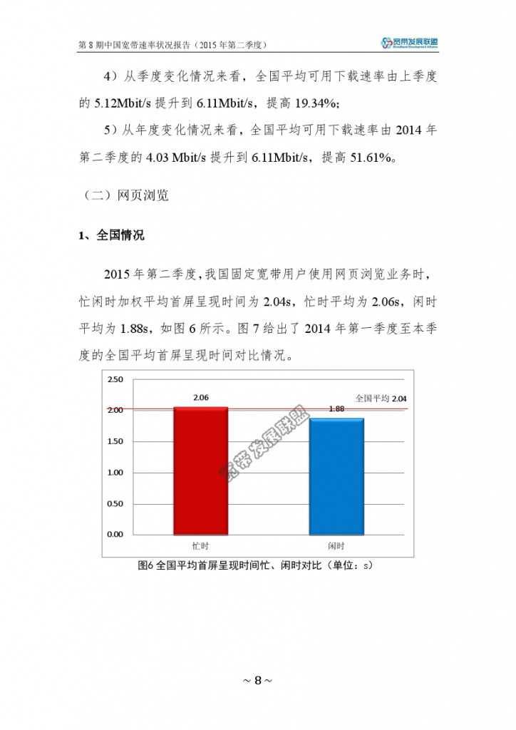 中国宽带速率状况报告-第08期(2015Q2)_000014