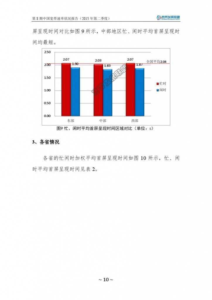 中国宽带速率状况报告-第08期(2015Q2)_000016