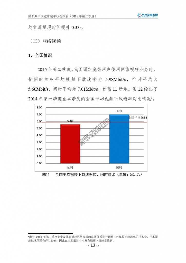 中国宽带速率状况报告-第08期(2015Q2)_000019