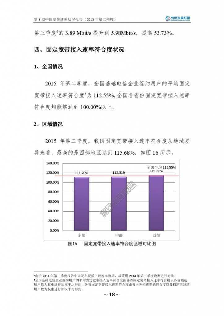 中国宽带速率状况报告-第08期(2015Q2)_000024