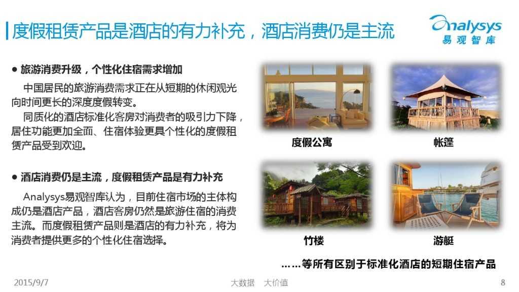 中国在线度假租赁市场2015年上半年专题盘点报告 01_000008