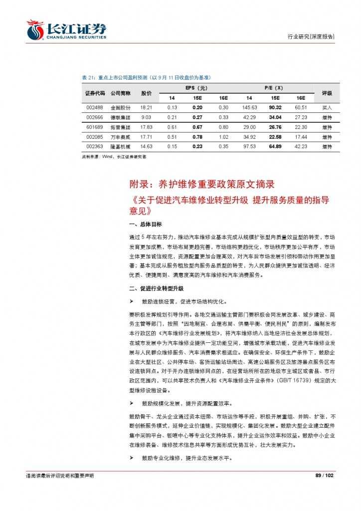 汽车后市场百页系列报告之一: 养护维修,去伪存真_000089