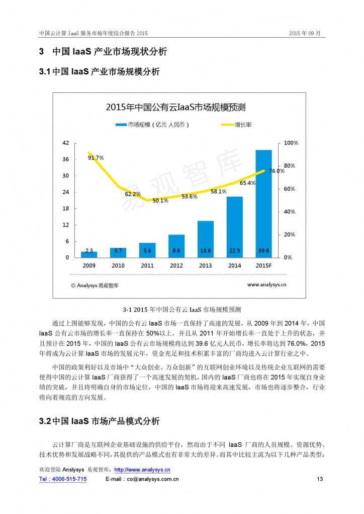 中国云计算 IaaS 服务市场年度综合报告2015 01_000013