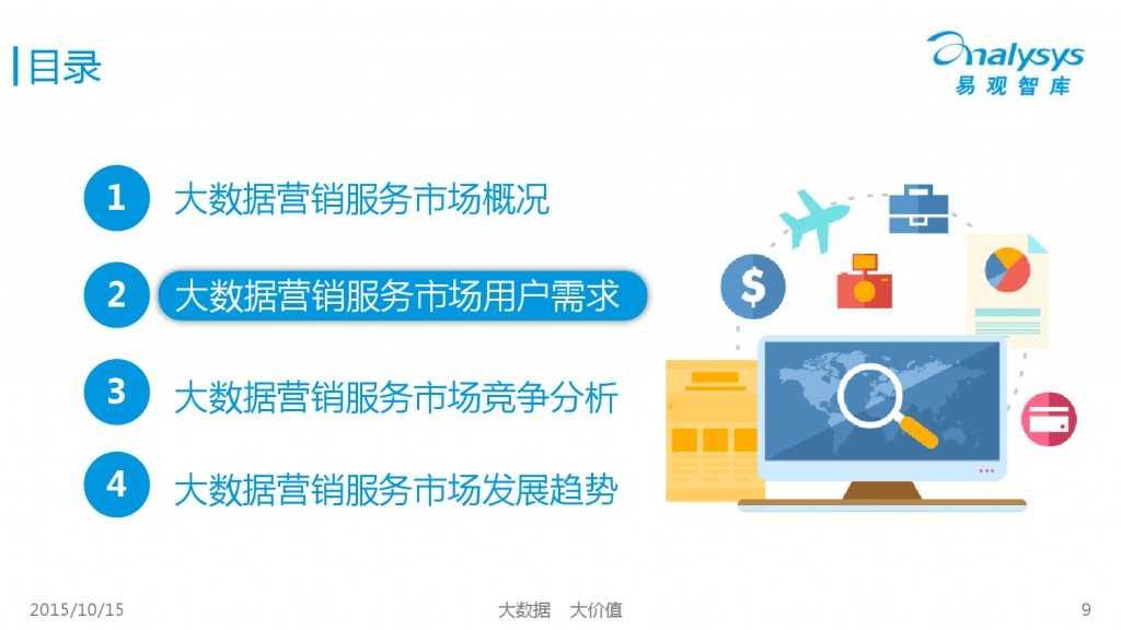 中国大数据营销服务市场专题研究报告2015 01_000009