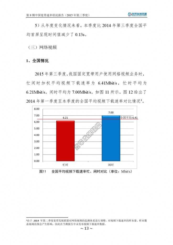 中国宽带速率状况报告-第09期(2015Q3)_000019