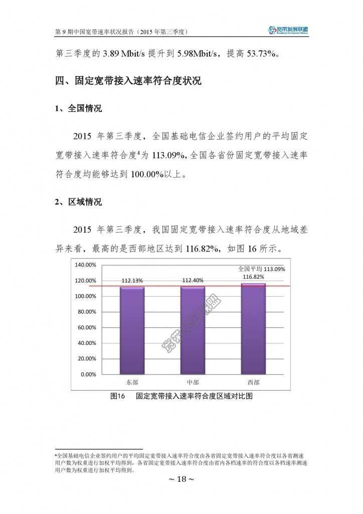 中国宽带速率状况报告-第09期(2015Q3)_000024