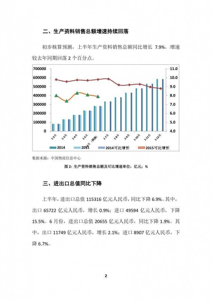 商务部:2015上半年中国商贸物流 运行报告_000005