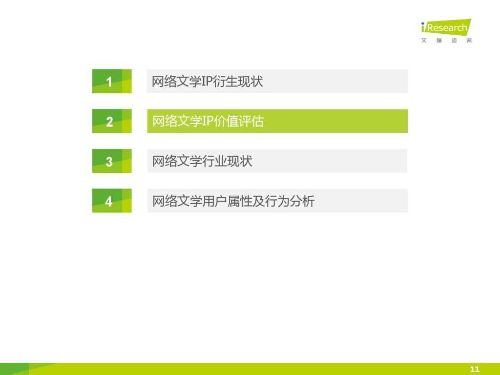 艾瑞咨询:2015年中国网络文学IP价值研究报告_000011