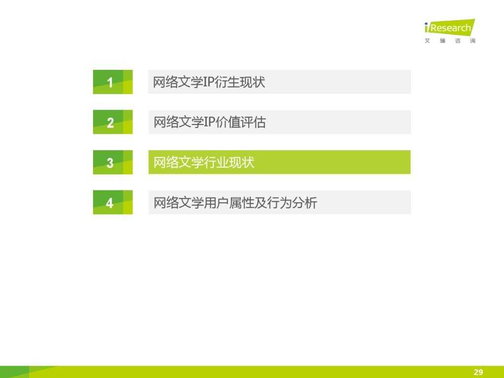 艾瑞咨询:2015年中国网络文学IP价值研究报告_000029