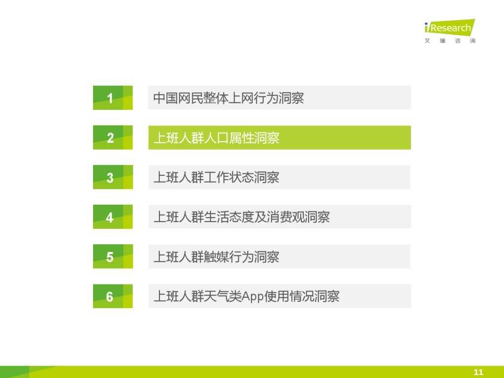 艾瑞_2015年中国上班人群洞察报告_000011