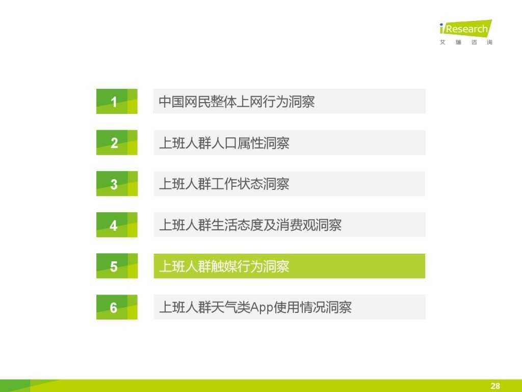 艾瑞_2015年中国上班人群洞察报告_000028