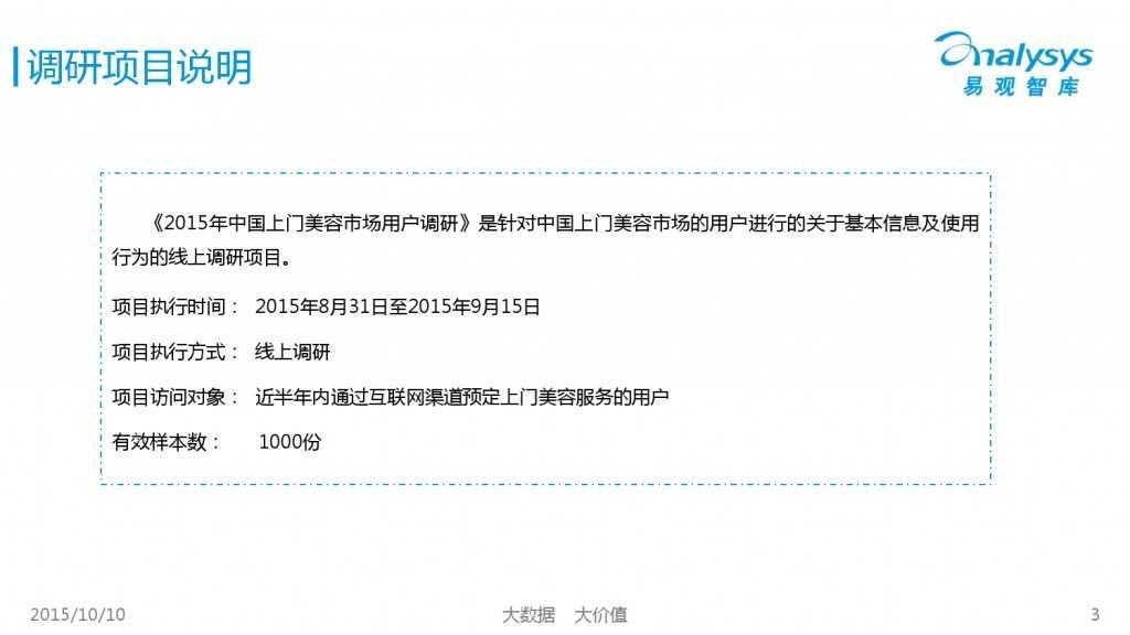 2015年中国上门美容市场专题研究报告_000003