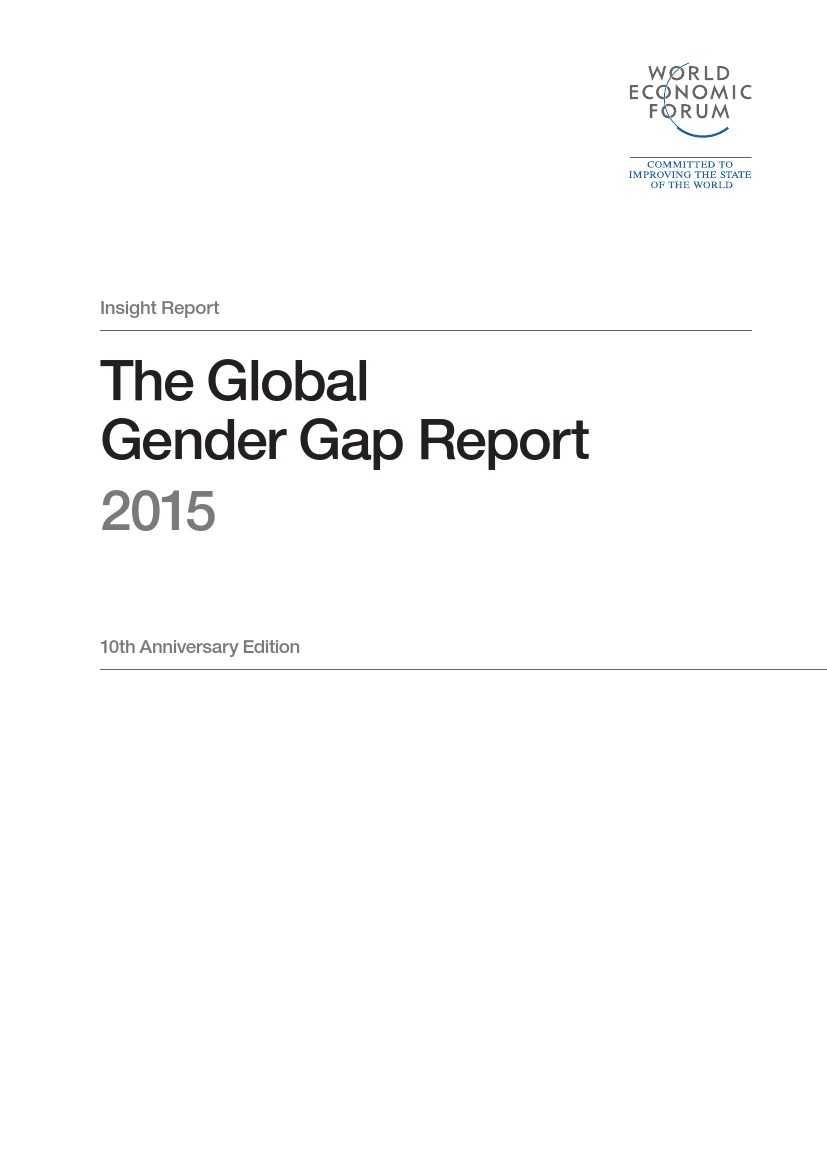 世界经济论坛:2015年全球性别差距报告_000003