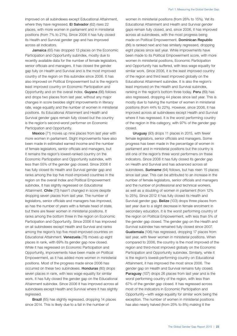 世界经济论坛:2015年全球性别差距报告_000031