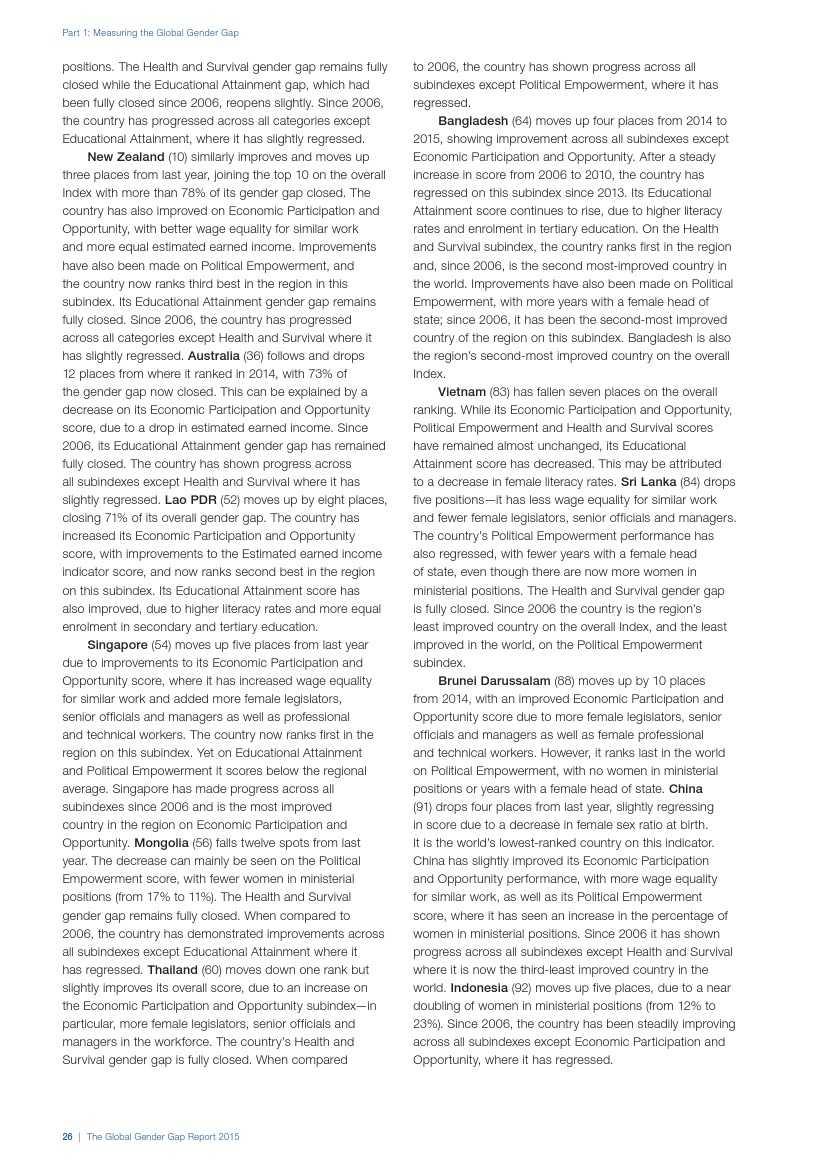 世界经济论坛:2015年全球性别差距报告_000034