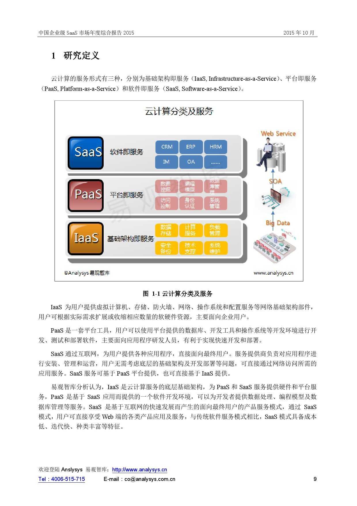 中国企业级SaaS市场年度综合报告2015 01_000009