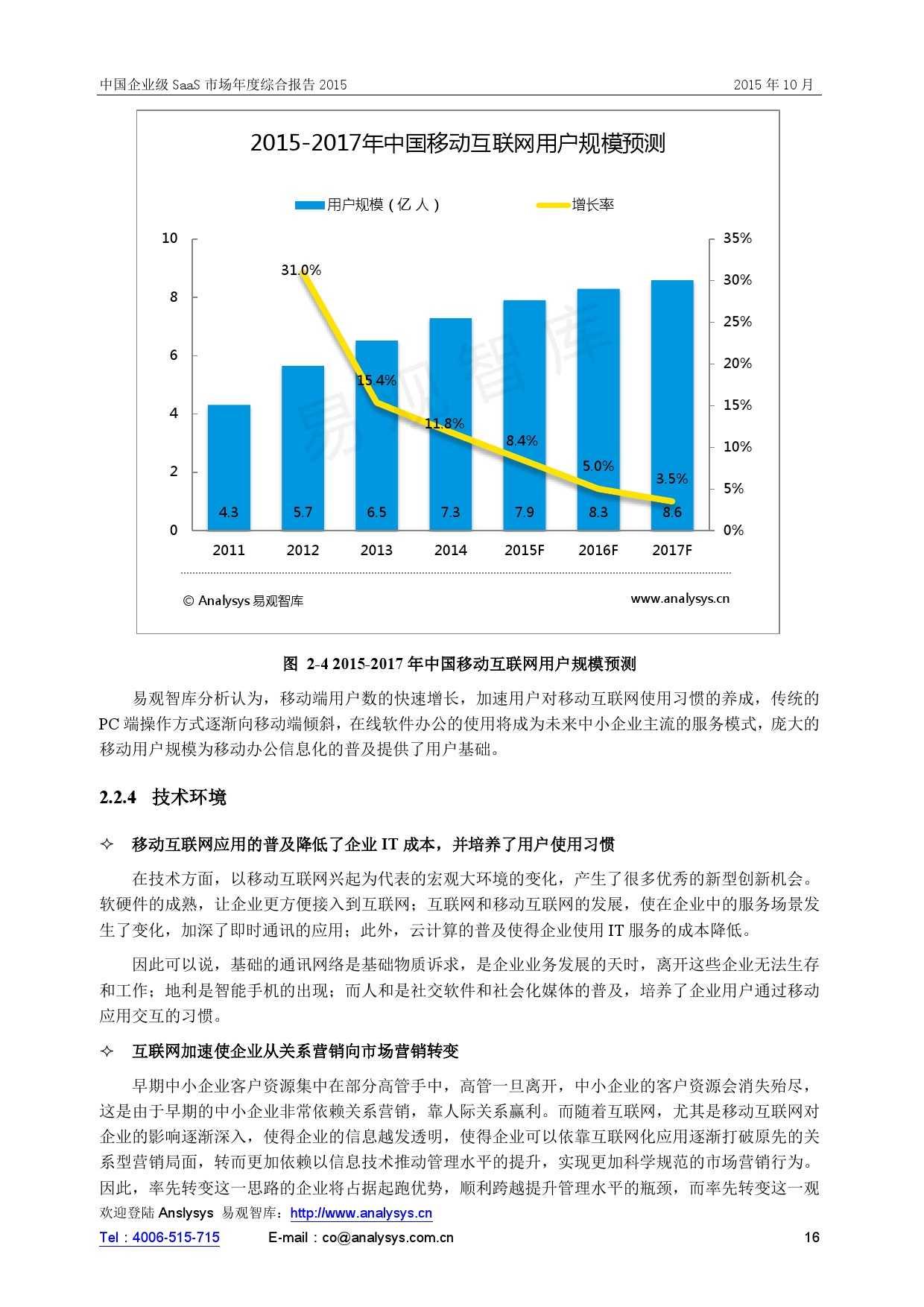中国企业级SaaS市场年度综合报告2015 01_000016