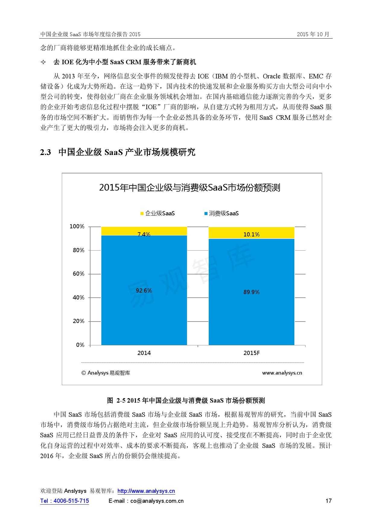 中国企业级SaaS市场年度综合报告2015 01_000017