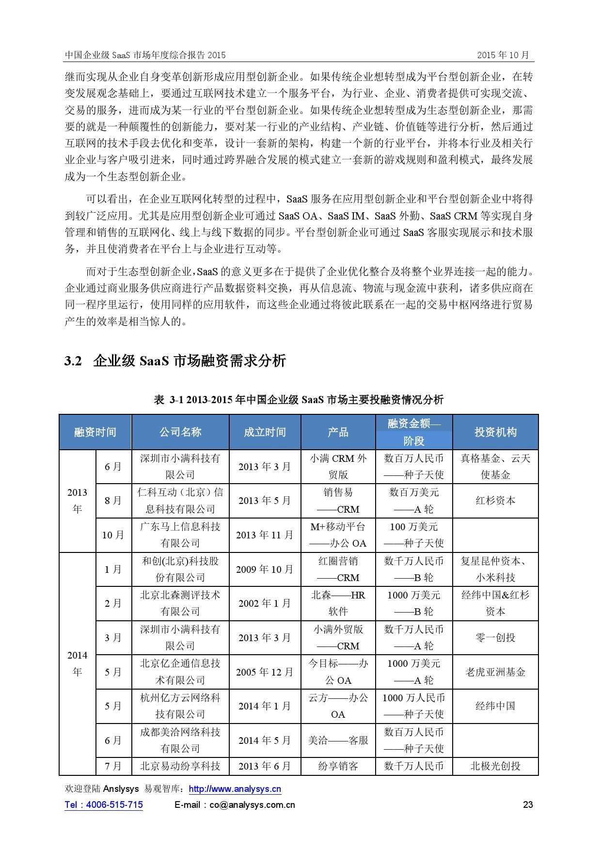 中国企业级SaaS市场年度综合报告2015 01_000023