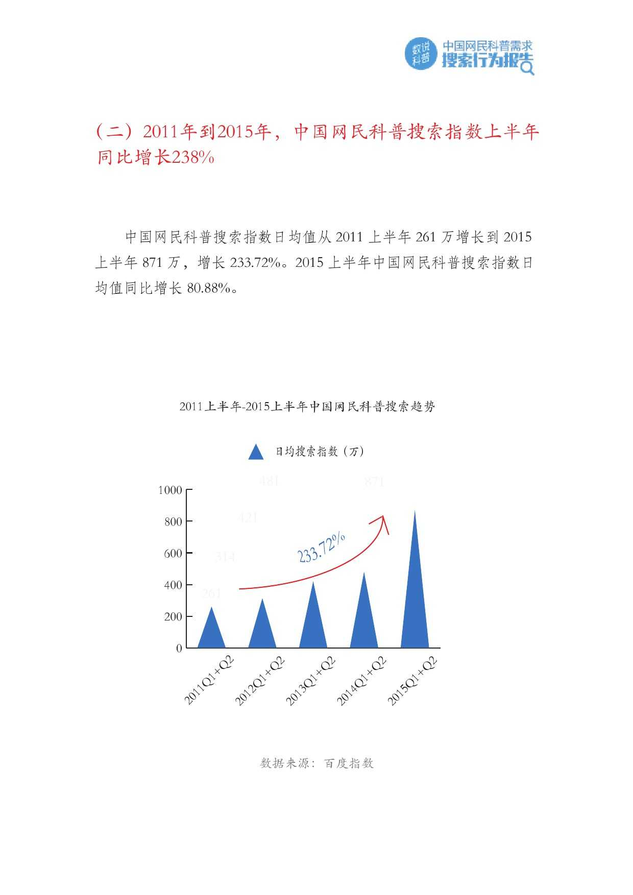 百度:2015年Q2中国网民科普需求搜索行为报告_000006