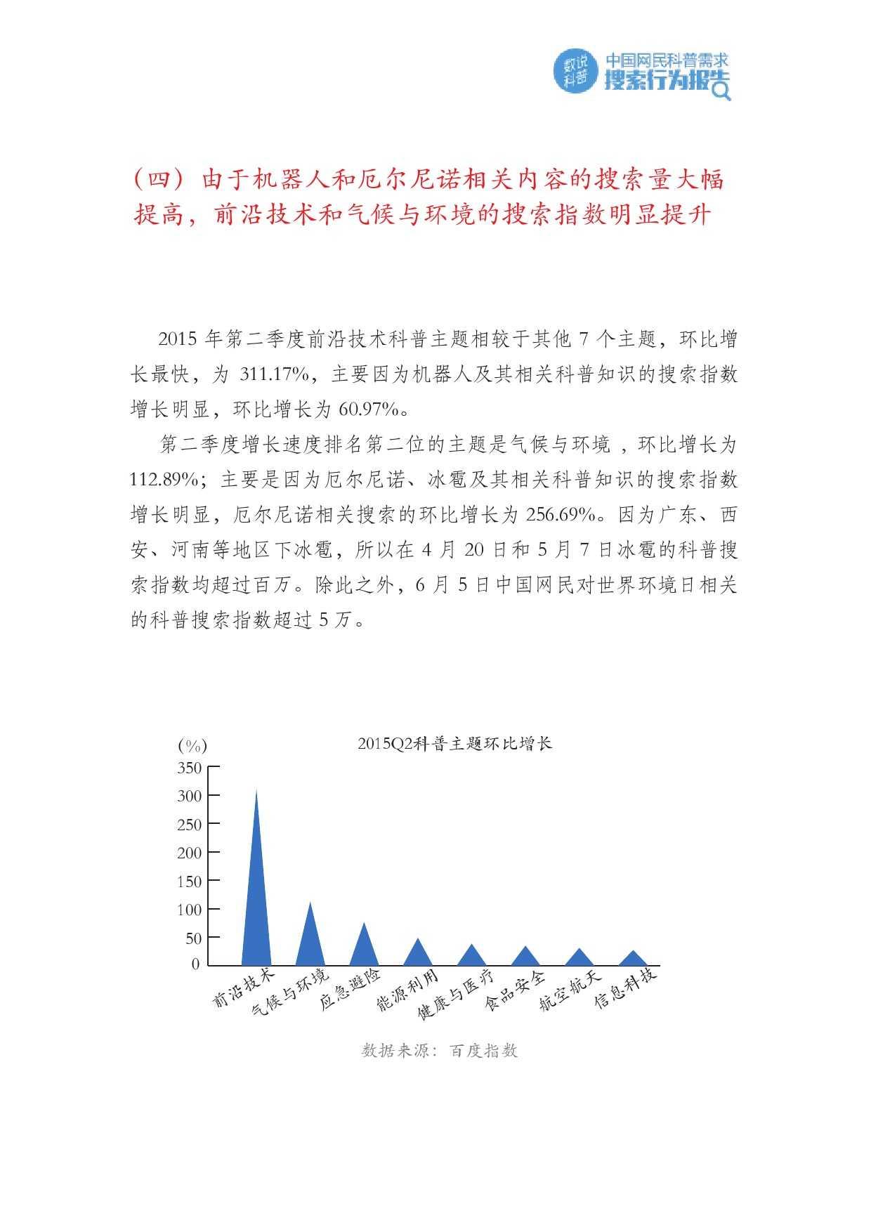 百度:2015年Q2中国网民科普需求搜索行为报告_000012