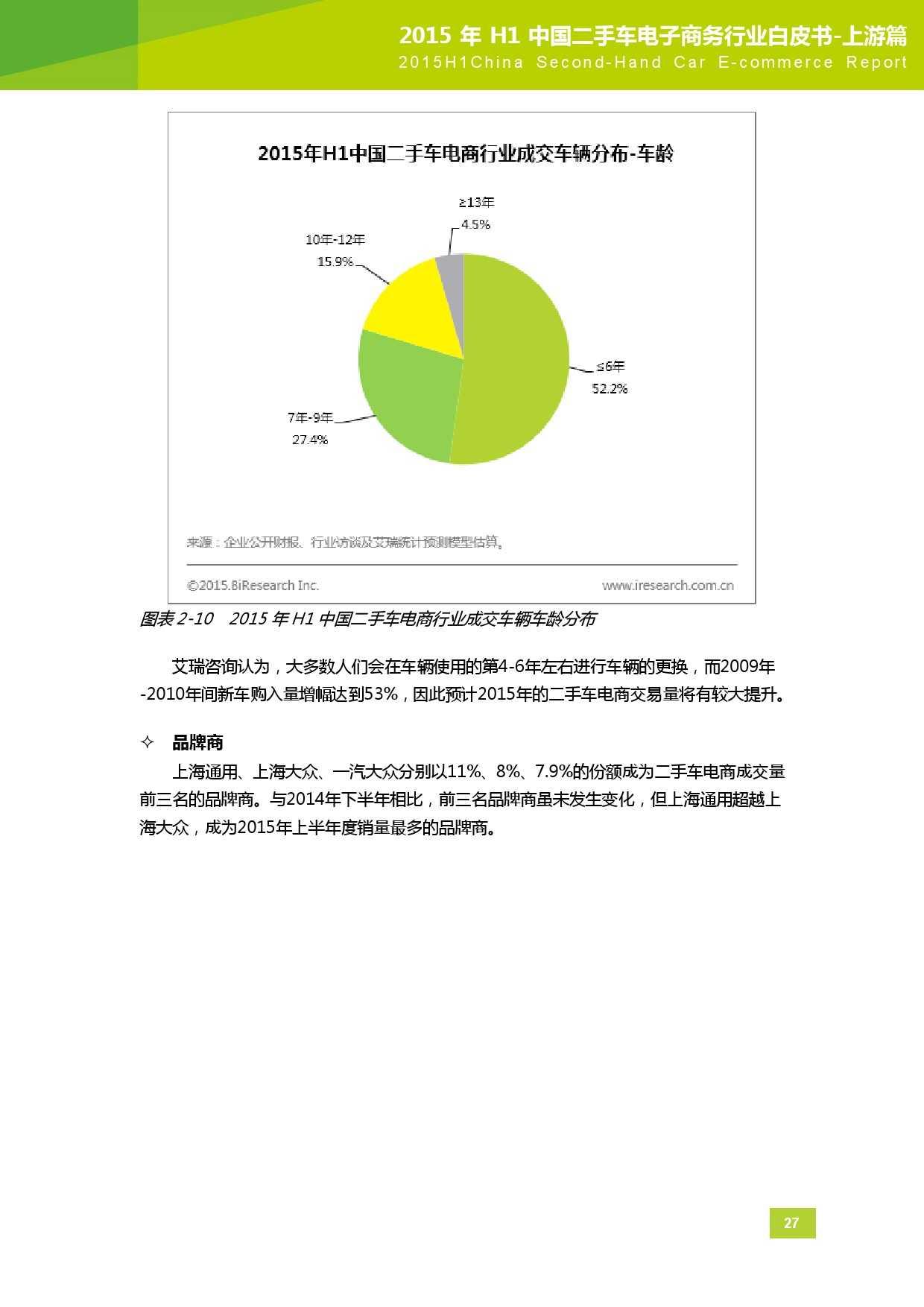 2015年中国二手车电子商务行业白皮书-上游篇_000028