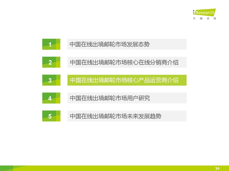 2015年中国在线出境邮轮市场研究报告_000014