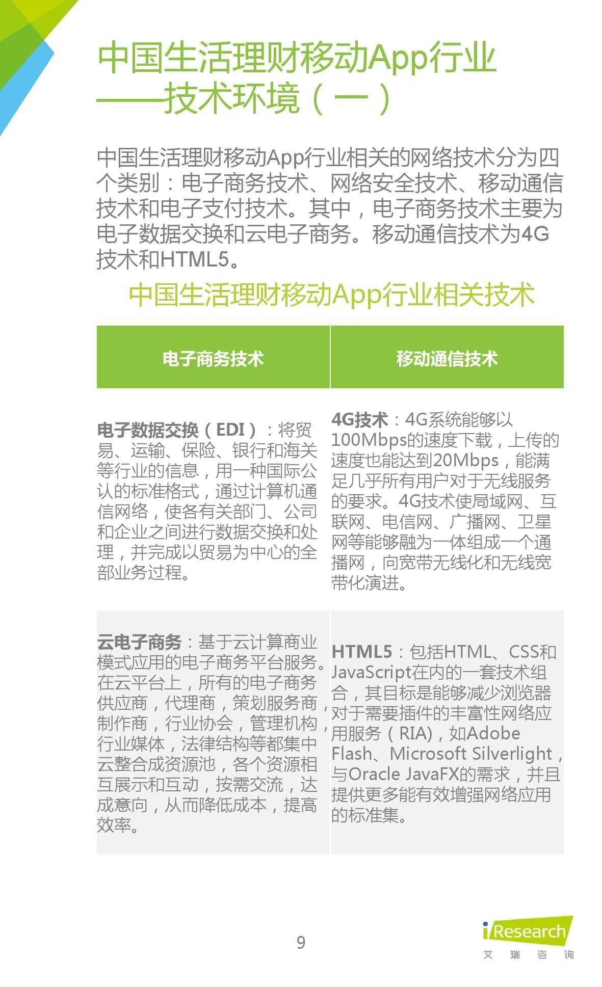 2015年中国生活理财移动App行业研究报告_000009
