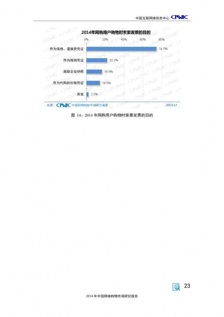 CNNIC:2014年中国网络购物市场研究报告_000033
