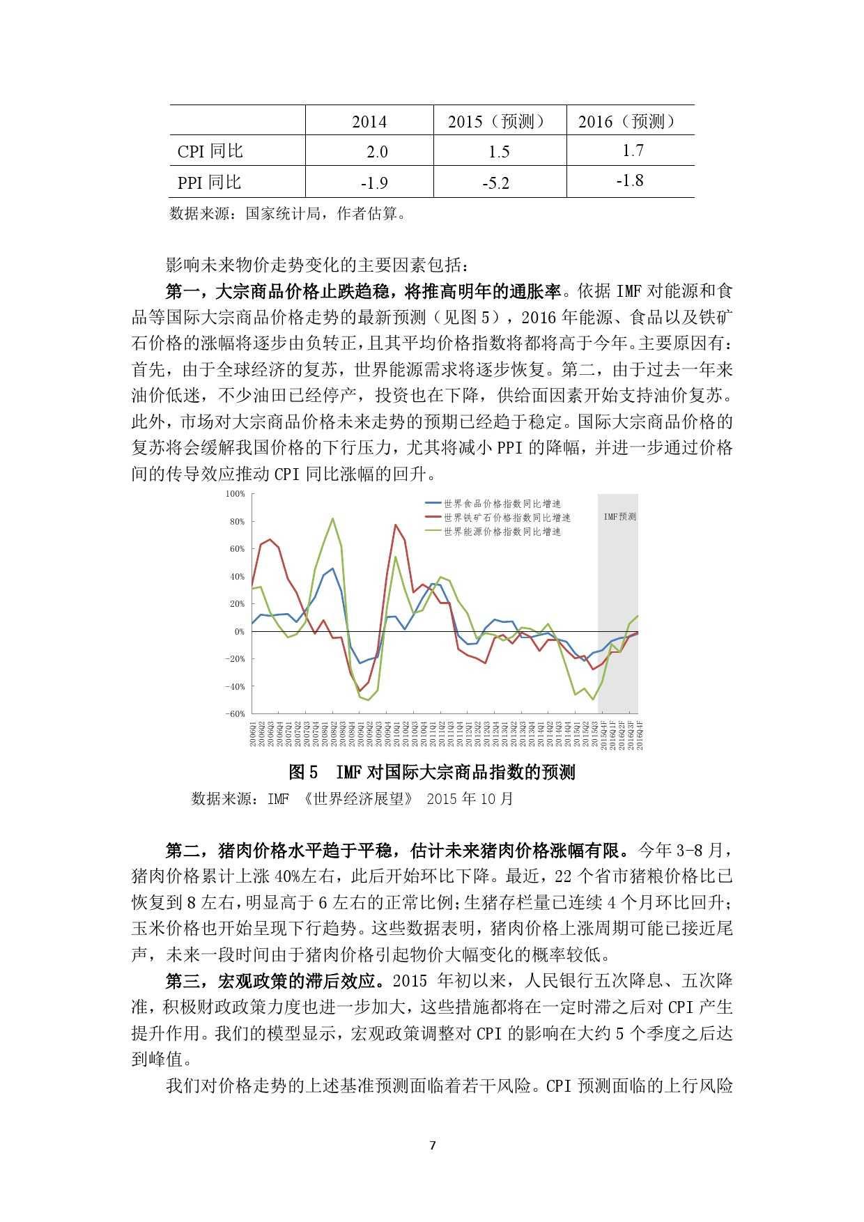 中国人民银行:2016 年中国宏观经济预测_000007