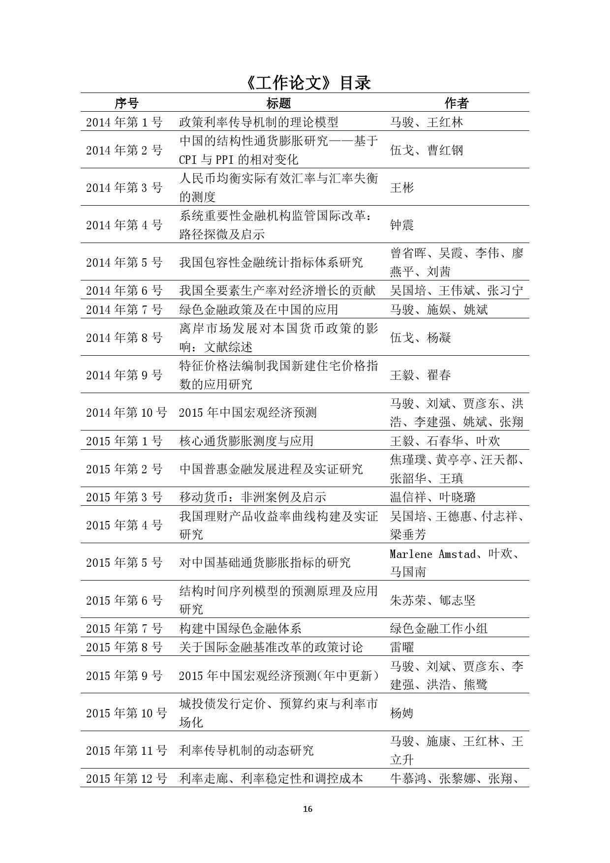 中国人民银行:2016 年中国宏观经济预测_000016