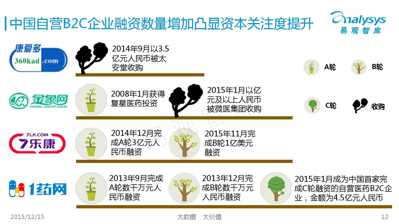 中国自营医药B2C市场专题研究报告2015_000012
