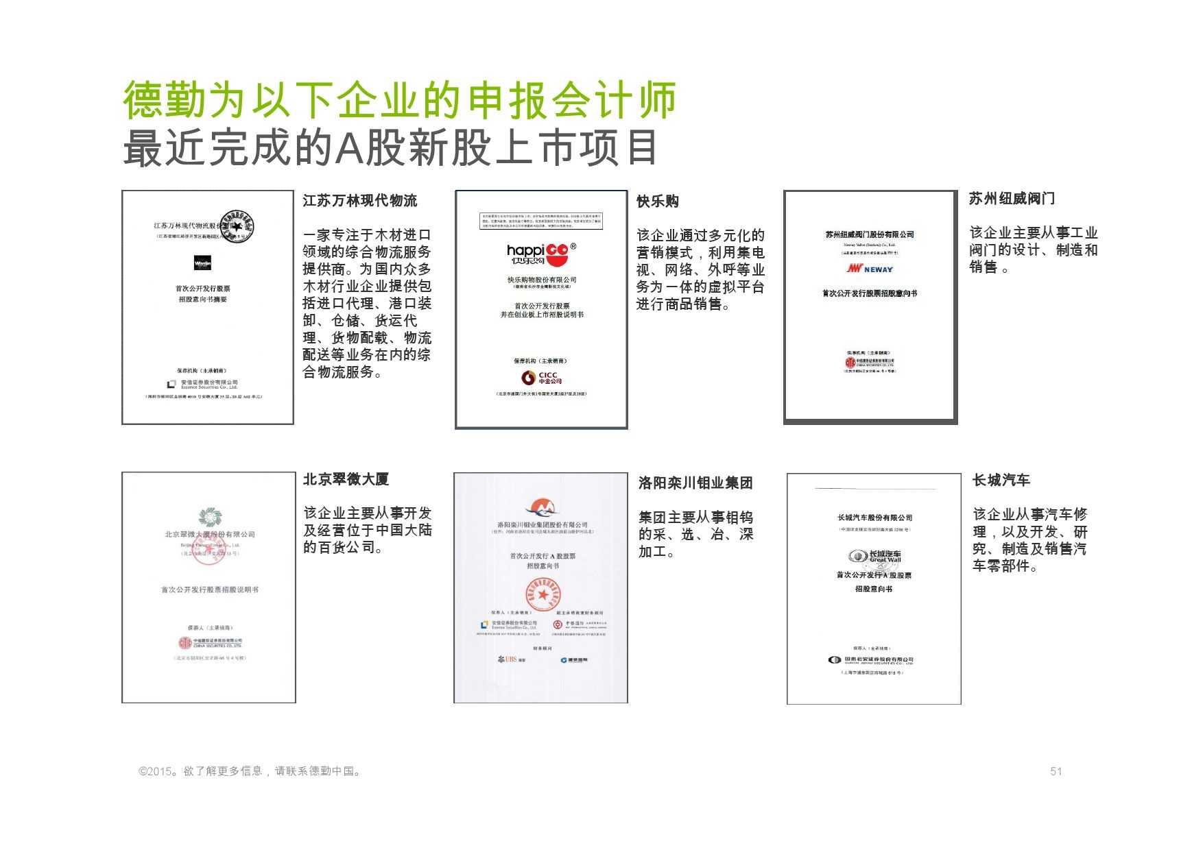 德勤:香港及中国大陆IPO巿场2015年回顾与2016年展望_000051