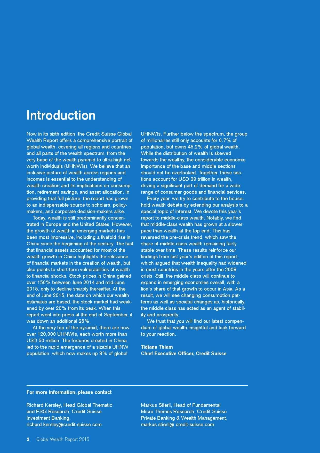 瑞士信贷:2015年全球财富报告_000002